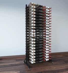 378-Bottle Island Display Rack 7 DLX