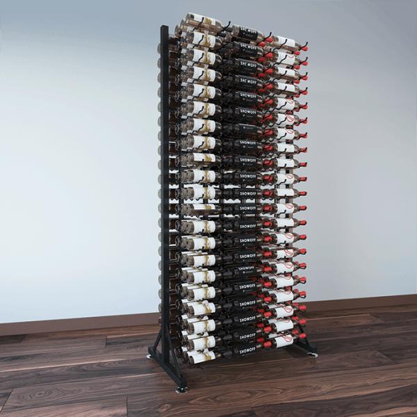 378-Bottle Island Display Rack 7 DLX
