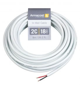 2C 18AWG In-Wall Cable (26 ft. / 8m)