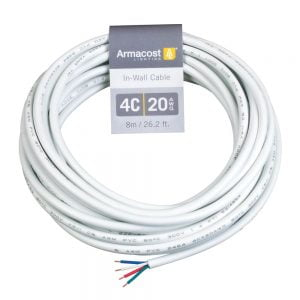 4C RGB LED 20AWG In Wall Power Wire