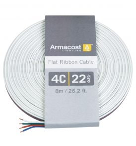 4C 22AWG Flat Ribbon Cable (26 ft. / 8m)