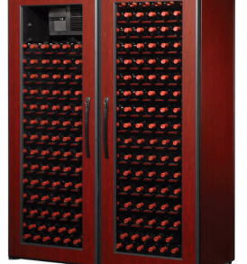 500 Bottle WineKoolR 2 Door Double Deep Wine Cabinet