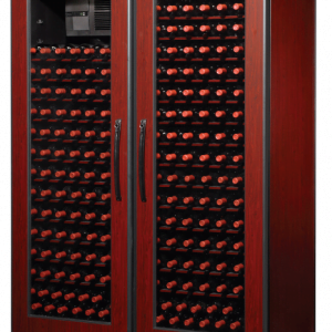 500 Bottle WineKoolR 2 Door Double Deep Wine Cabinet