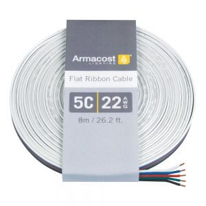 5C 22AWG Flat Ribbon Cable (26 ft. / 8m)