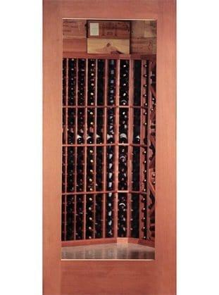 Standard Wood Door with Glass Panel
