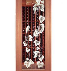 Zurich Etched Glass Wine Cellar Door.