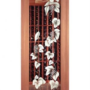 Zurich Etched Glass Wine Cellar Door.