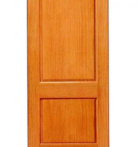 Mahogany 2 Panel Basic Entry Door