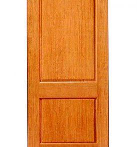 Mahogany 2 Panel Basic Entry Door