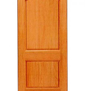 Mahogany 2 Panel with Arched Top Panel Basic Entry Door