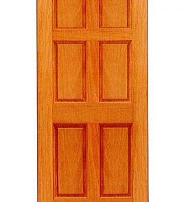 Mahogany 6 Panel Basic Entry Door