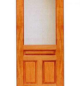 Mahogany 3 Panel with 1 Lite Basic Entry Door