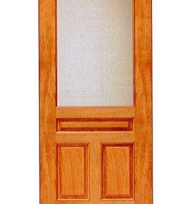 Mahogany 3 Panel with 1 Lite Basic Entry Door