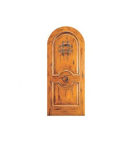Rustic Arched Wood Door