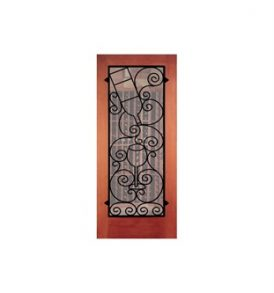 Seneca Falls Wrought Iron Grille Door