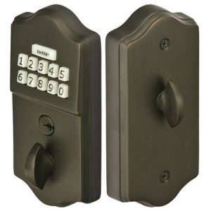 Brass Keypad Deadbolt