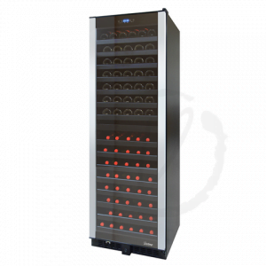 155 Bottle Dual-Zone Wine Cooler with Brushed PVC Trim