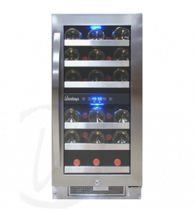 28 Bottle Dual-Zone Connoisseur Series Wine Cooler