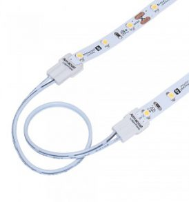 SureLock White LED Tape Light Wire Lead Connector