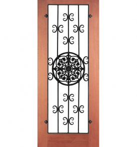 Cava Wrought Iron Grille Door
