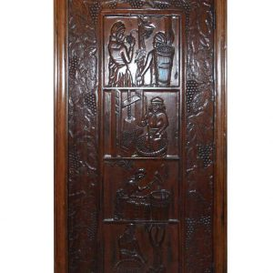 Wine Harvest Carved Door