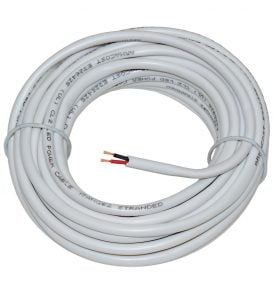 2C White LED 18AWG In Wall Power Wire