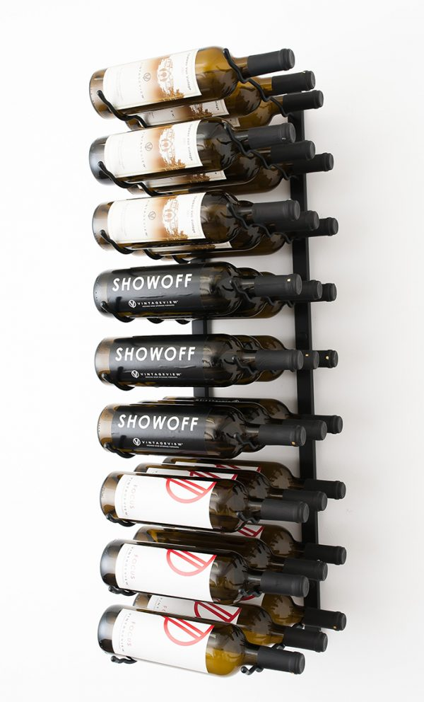 3 Foot Wall Series 27 Bottle Triple Deep Metal Wine Rack My Cellar