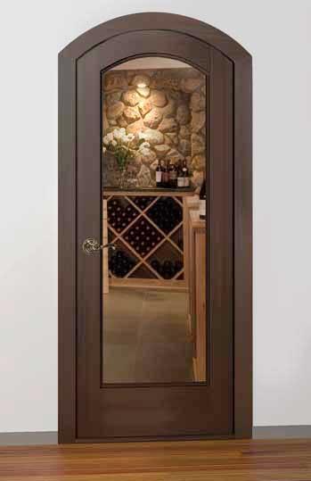 Classic Full Glass Arch Wine Cellar Door & Classic Full Glass Arch Wine Cellar Door - Wine Cellar Creations