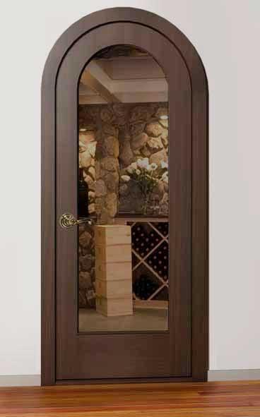 Classic Full Glass Radius Wine Cellar Door & Classic Full Glass Radius Wine Cellar Door - Wine Cellar Creations
