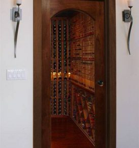 Value Classic Full Glass Square Arch Wine Cellar Doors