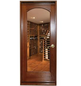 Classic Full Glass Square Arch Wine Cellar Door