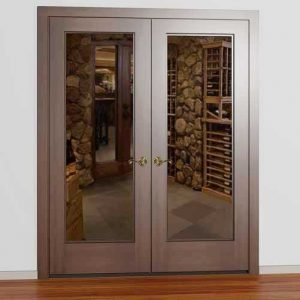 Classic Full Glass Square French Wine Cellar Door