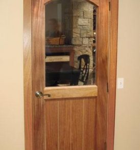 Classic Half Glass Square Arch Wine Cellar Door