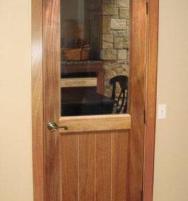 Classic Half Glass Square Wine Cellar Door