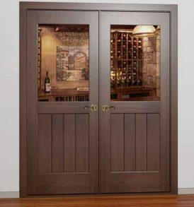 Classic Half Glass Square French Wine Cellar Door