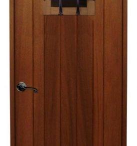 Rustic Arched Wood Wine Cellar Door