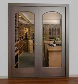 Value Classic Full Glass Square Arch French Wine Cellar Doors