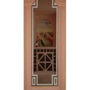 Margaux Etched Arched Glass Door