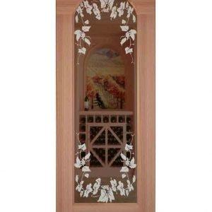 Reim Etched Arched Glass Door