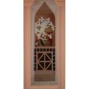Sauternes Etched Arched Glass Door