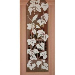 Siena Etched Arched Glass Door