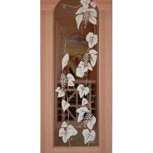Zurich Etched Arched Glass Door
