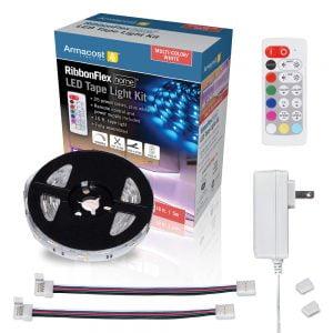 RibbonFlex Home Multi-Color + White LED Tape Light Kit with Remote – 16 ft. (5m)