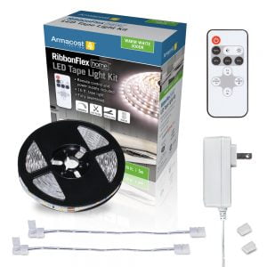 RibbonFlex Home Warm White Tape Light Kit with Remote – 16 ft. (5m)