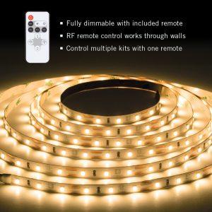 RibbonFlex Pro Warm White Tape Light Kit with Remote – 8.2 ft. (2.5m)